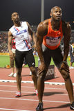 Tyson Gay Asafa Powell Mens 100m Stock Images