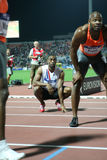 Tyson Gay Asafa Powell Mens 100m Royalty Free Stock Photo