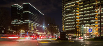 Tysons Corner at night. The view of Tysons Corner in the evening during the rush hour Stock Photos