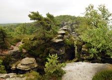 Tyssa Izoluje Tiské stÄ› ny - skały Kształtują teren - Obrazy Stock