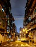 Tyst afton i Macao arkivfoto