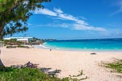 Tyst Bermuda strand Fotografering för Bildbyråer