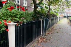 Tyst borggård i Amsterdam Royaltyfria Foton