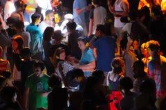 Tyst disko på utgångsfestival Arkivbild