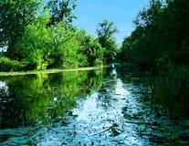 tyst flodlandskap arkivbild