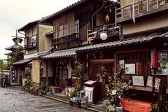 Tyst grannskap i Kyoto, Japan arkivbild