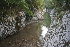 Tyst hörn i de Kaukasus bergen Royaltyfria Foton