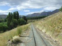 Tyst järnvägspår Arkivbilder