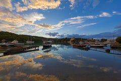 Tyst liten vik på Porto-Heli, Peloponnese - Grekland Royaltyfri Bild
