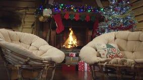 Tyst natt julnatt stock video