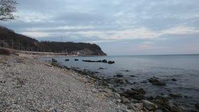 Tyst och fridsam afton på havet stock video