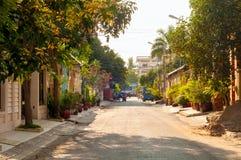 Tyst Phnom Penh gata Royaltyfria Bilder