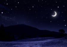 Tyst sommarnatt Arkivbild