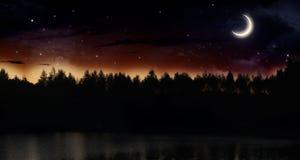 Tyst sommarnatt Arkivfoto