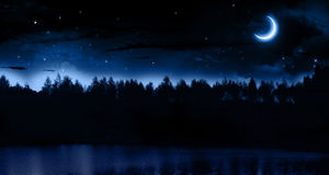 Tyst sommarnatt Royaltyfria Bilder