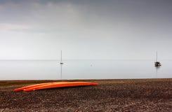 Tyst strand Arkivfoton