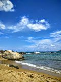 Tyst strand i Kreta Arkivfoton