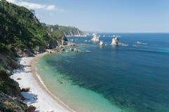 Tyst strand, Spanien Arkivfoto