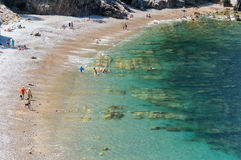 Tyst strand, Spanien Arkivbild