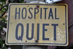 Tyst tecken för sjukhus Arkivbilder