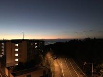 Tyst väg i Beppu Arkivfoton
