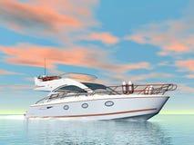 Tyst yacht - 3D framför vektor illustrationer