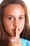 tysta för flicka som är teen arkivbild