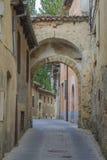 Tysta gator i Segovia, Spanien Arkivbild