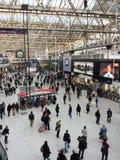 Tysta lördag på den Waterloo stationen Royaltyfria Bilder