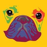Tysta ned av ett bulldoggtryck Arkivbilder