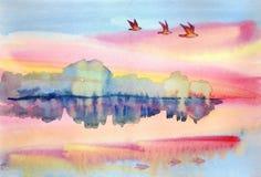 Tystnad över sjön Arkivfoton