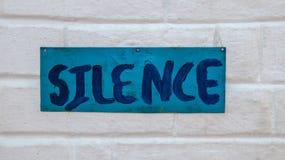 Tystnad arkivfoton