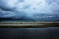 Tystnad för stormen i paradis Arkivfoton