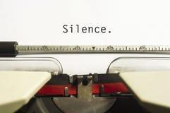 Tystnadbegrepp Arkivbild