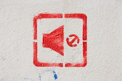 Tystnadsignal stock illustrationer