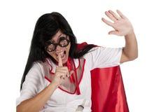 Tystnadsjuksköterska Royaltyfri Bild