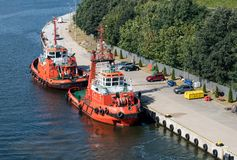 Tytan tugboat in Gdansk, Poland Royalty Free Stock Photography