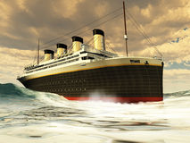tytaniczny liniowa ocean Fotografia Stock