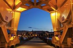 Tytanu żuraw w Nantes Zdjęcie Royalty Free