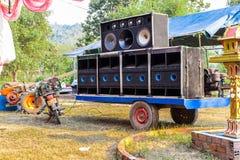 Tytuł: Duży uliczny głośny głośnikowy system obraz royalty free