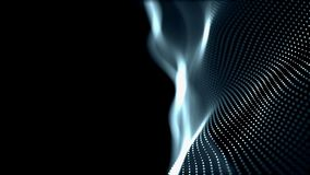 Tytułowa błękitna cyfrowa falowa tła abstrat animacja cząsteczki bezszwowy zamazany ilustracja wektor