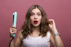 Tytułowanie włosy Fotografia Royalty Free