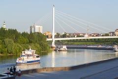 Tyumen, Россия, 16-ого июля 2018: Корабль мотора Tyumen плавает d Стоковое Изображение