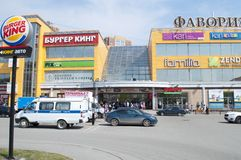 Tyumen, Россия, 8-ого мая 2019: Опорожнение людей от торгового центра стоковые изображения rf