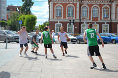 Tyumen. Basketballwettbewerbe Stockfotos