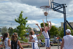 Tyumen. Basketballwettbewerbe Lizenzfreies Stockbild