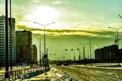 Tyumen. City street royalty free stock images