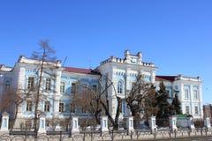 Tyumen Das Gebäude der Tyumen-Zustands-landwirtschaftlichen Akademie sibirien Russland lizenzfreie stockfotografie