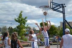 Tyumen. Koszykówek rywalizacje Obraz Royalty Free