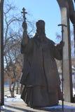 Tyumen Monument till storstads- Filofey Leshchinskiy Ryss Sibirien Fotografering för Bildbyråer